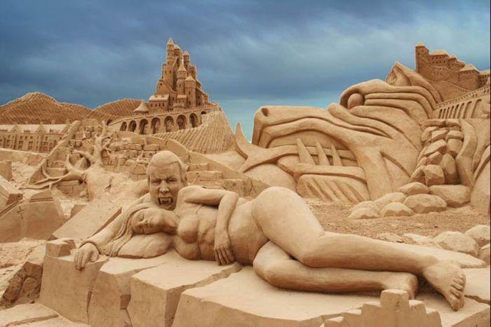 Sand Sculptures (41 pics)