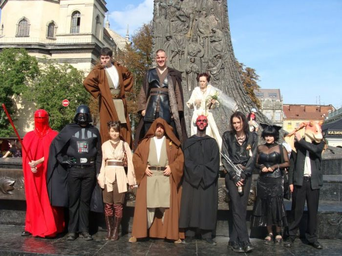 Star Wars Wedding in Ukraine (43 pics + video)