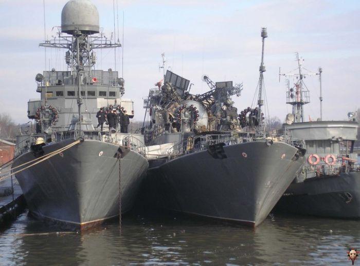 تصاویری از تصادف کشتی های روسی