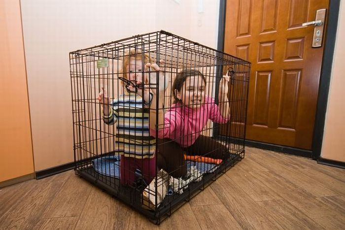 Kids in cages (30 pics)