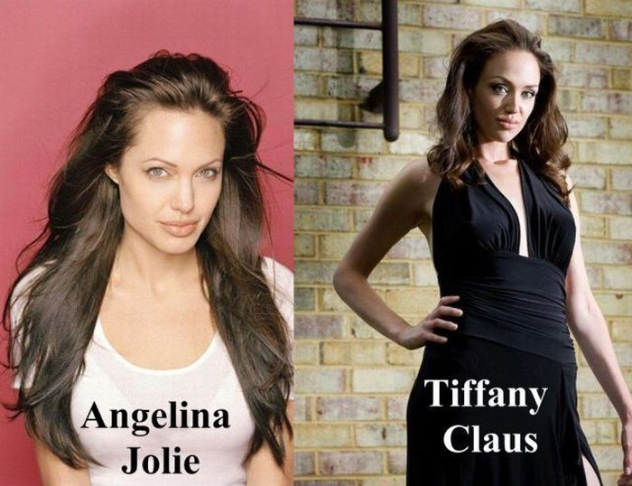 Tiffany Claus - Angelina Jolie look-alike (18 pics)