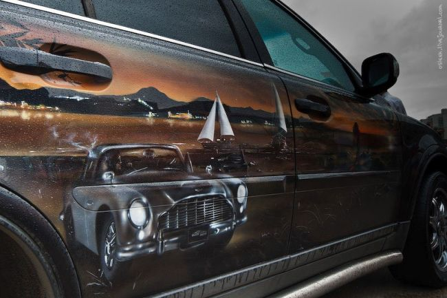 Funny and beautiful painted cars (40 pics)