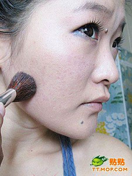 Chinese girl before and after makeup (12 pics)