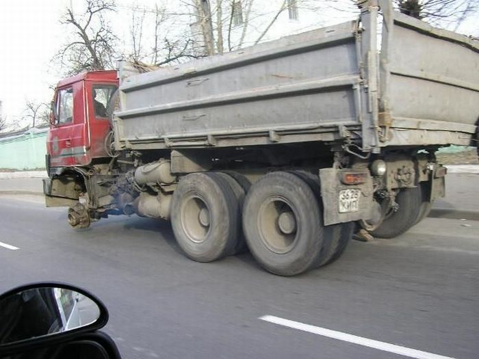 Driving without a wheel (16 pics)