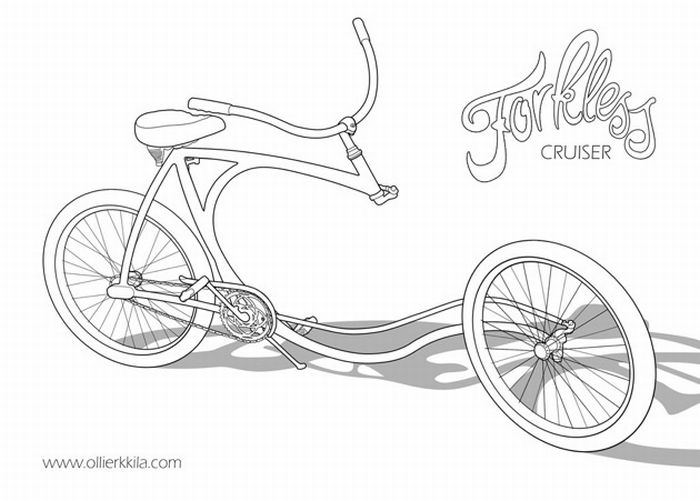 Forkless Cruiser - Cool Bike (5 pics)