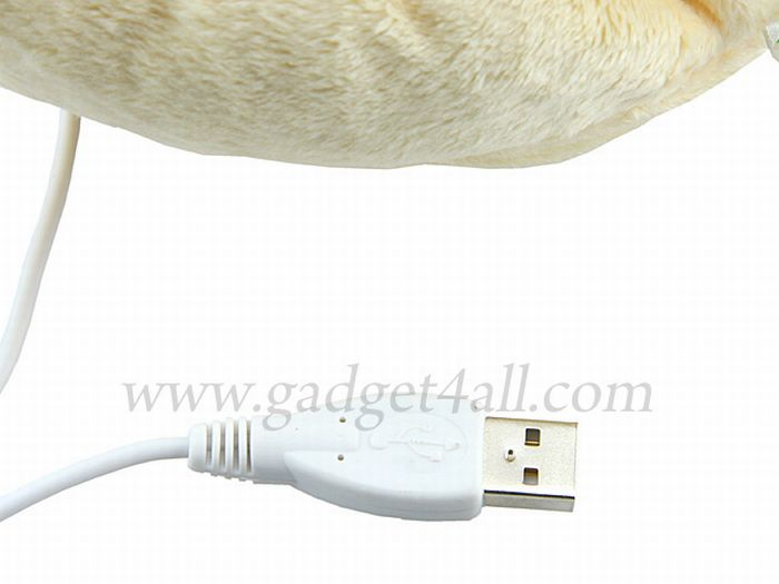 Paw Shape USB Heating Slipper (4 pics)
