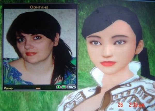 Real People and their online game characters (39 pics)