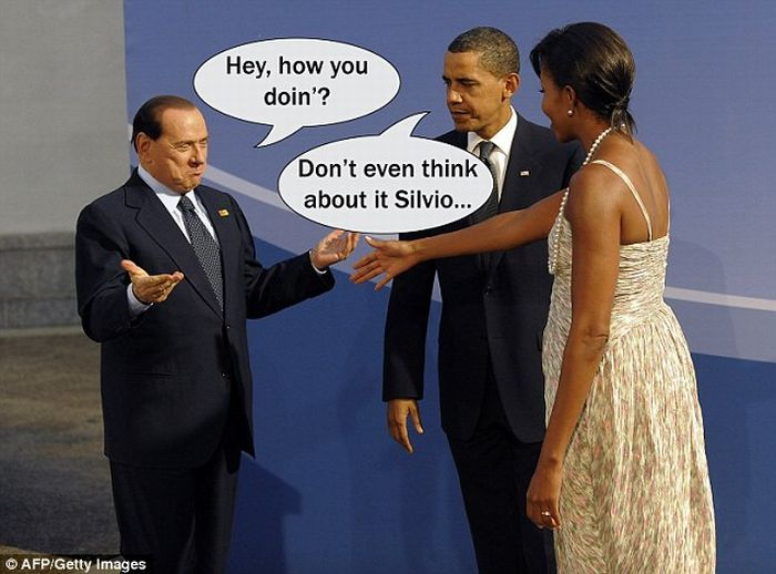 Michelle Obama and Silvio Berlusconi (9 pics)