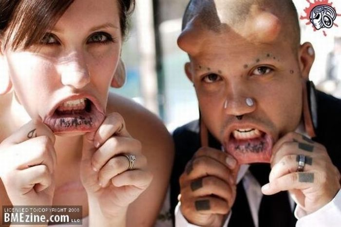 Usual Wedding Of An Unusual Couple (7 pics)