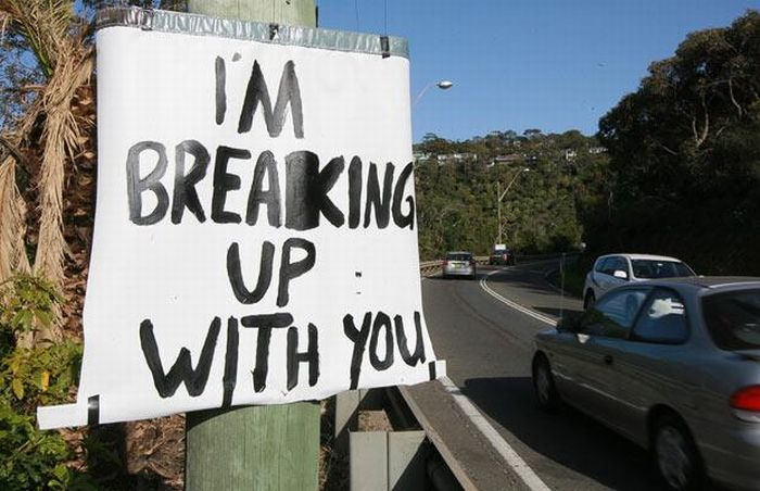 Interesting Way To Break Up With Your Girlfriend (5 pics)