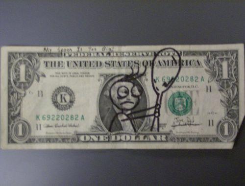 25 Defaced Dollar Bills (25 pics)