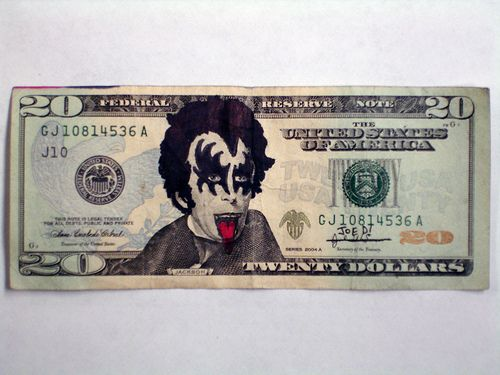 25 Defaced Dollar Bills (25 pics)