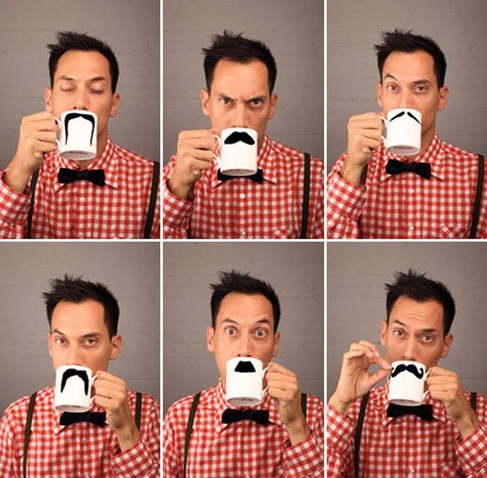 Mustache Cups (6 pics)