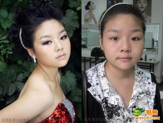 Asian Girls Before And After Makeup (11 pics)