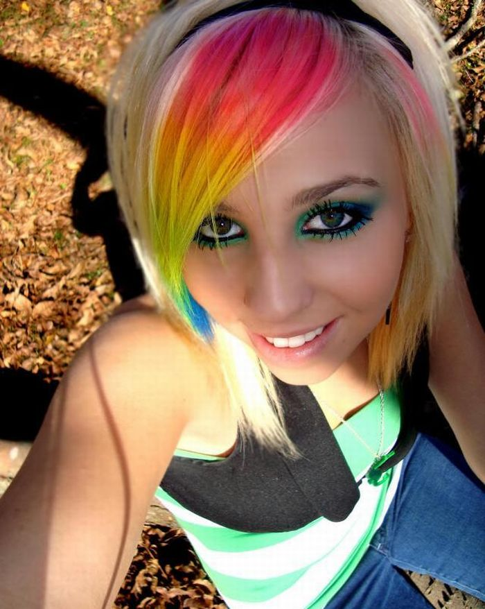 Rainbow Makeup (8 pics)