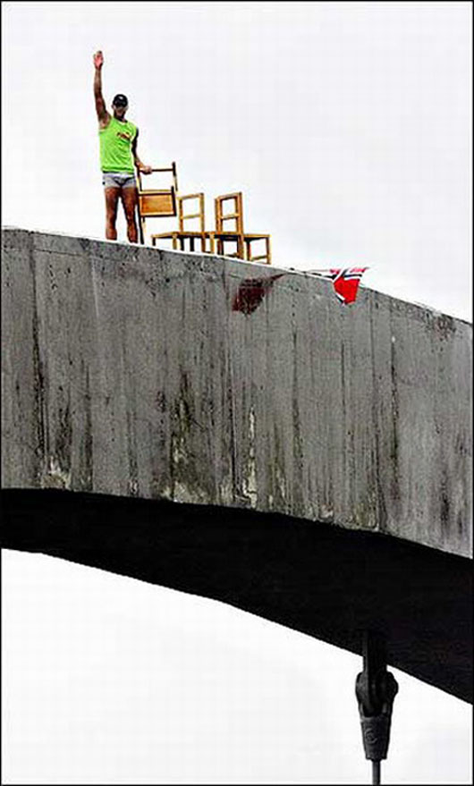 Extreme Chair Tower On A Bridge (5 pics)