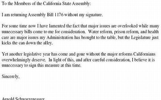 Governor Arnold Schwarzenegger Says No (2 pics)