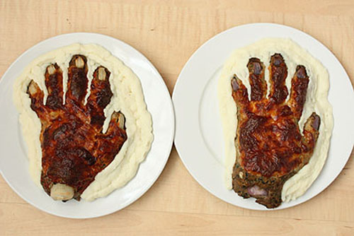 How to Make a Meat Hand for Halloween (30 pics)