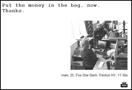 Bank Robbers and Their Demand Notes (64 pics)