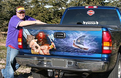 Mexican Airbrushed Tailgate Mural (51 pics)