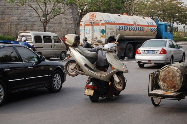 How to tow a scooter (4 pics)