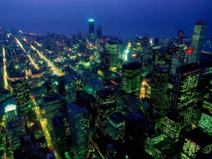 Cities at Night (55 pics)