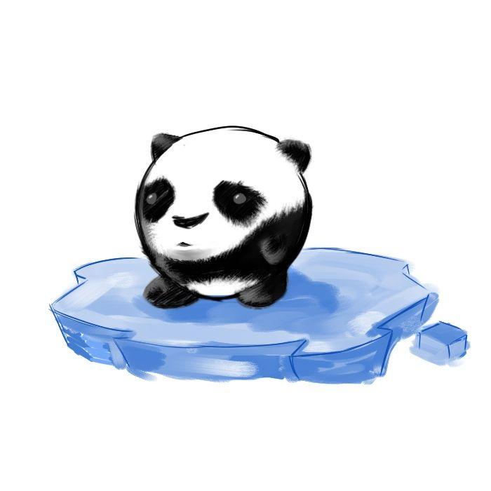Прикольная панда рисунок