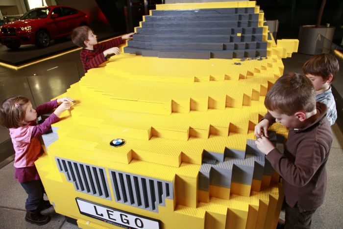 The full-scale LEGO replica of a BMW X1 (9 pics)
