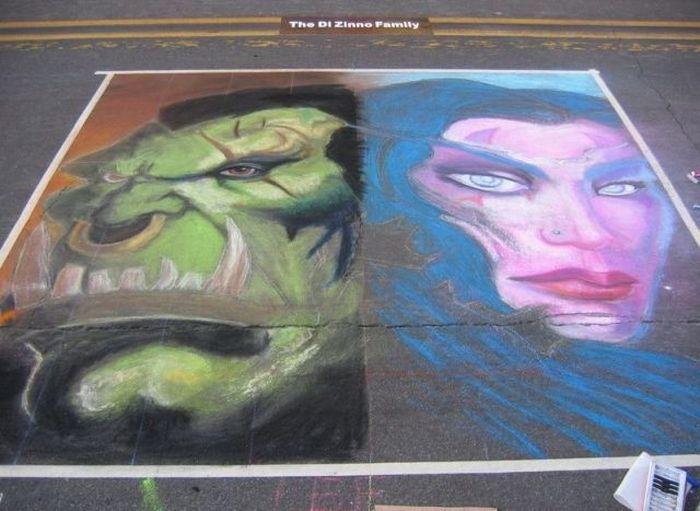 Amazing Chalk Drawing (23 pics)