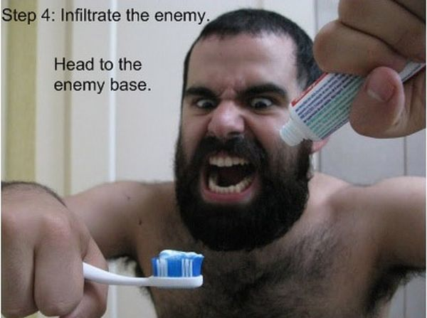 Brush Your Teeth Like a Spartan (7 pics)