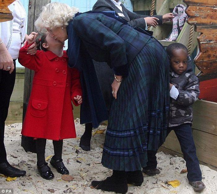 Camilla Gives a Little Boy a Royal Bump (3 pics)