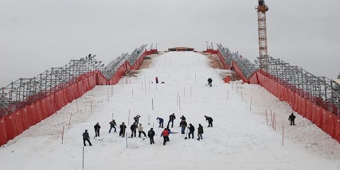 The jump for parallel Slalom FIS Champions Cup in Moscow (28 pics)
