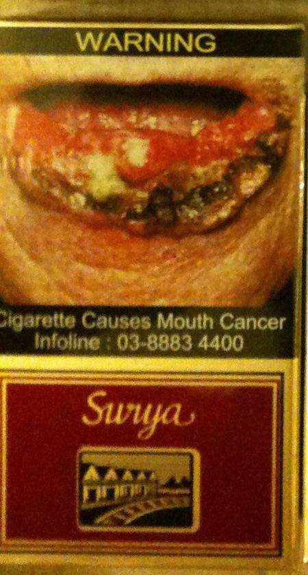 The Scariest Design of Cigarette Packs (6 pics)