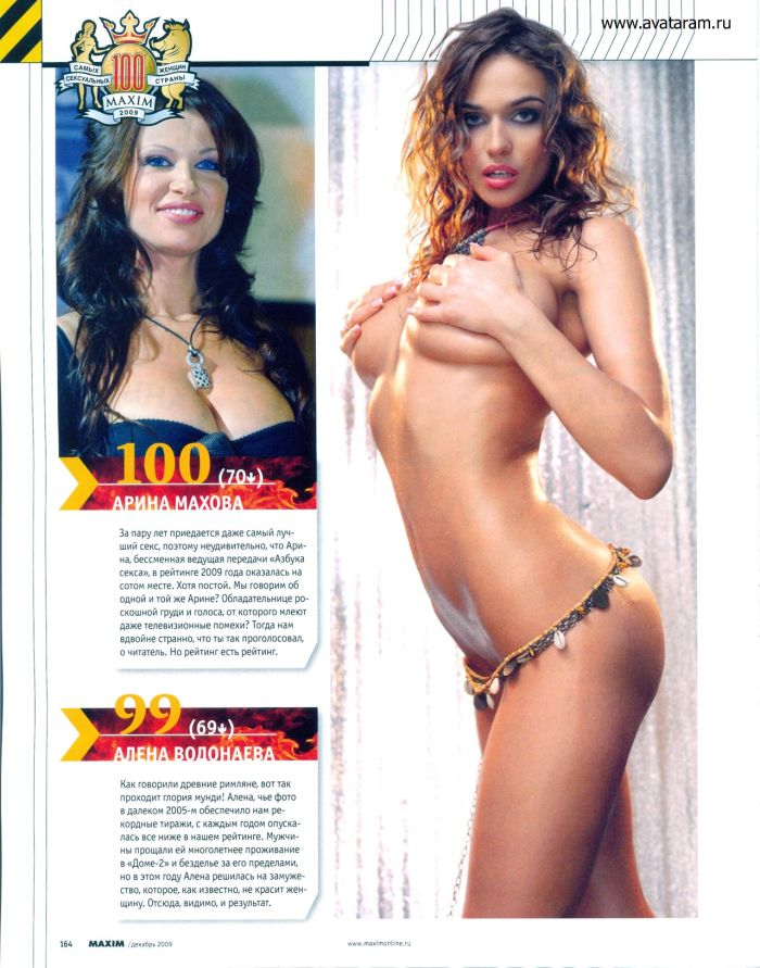 Top-100 Sexiest Russian Celebrities according to Maxim (43 pics)