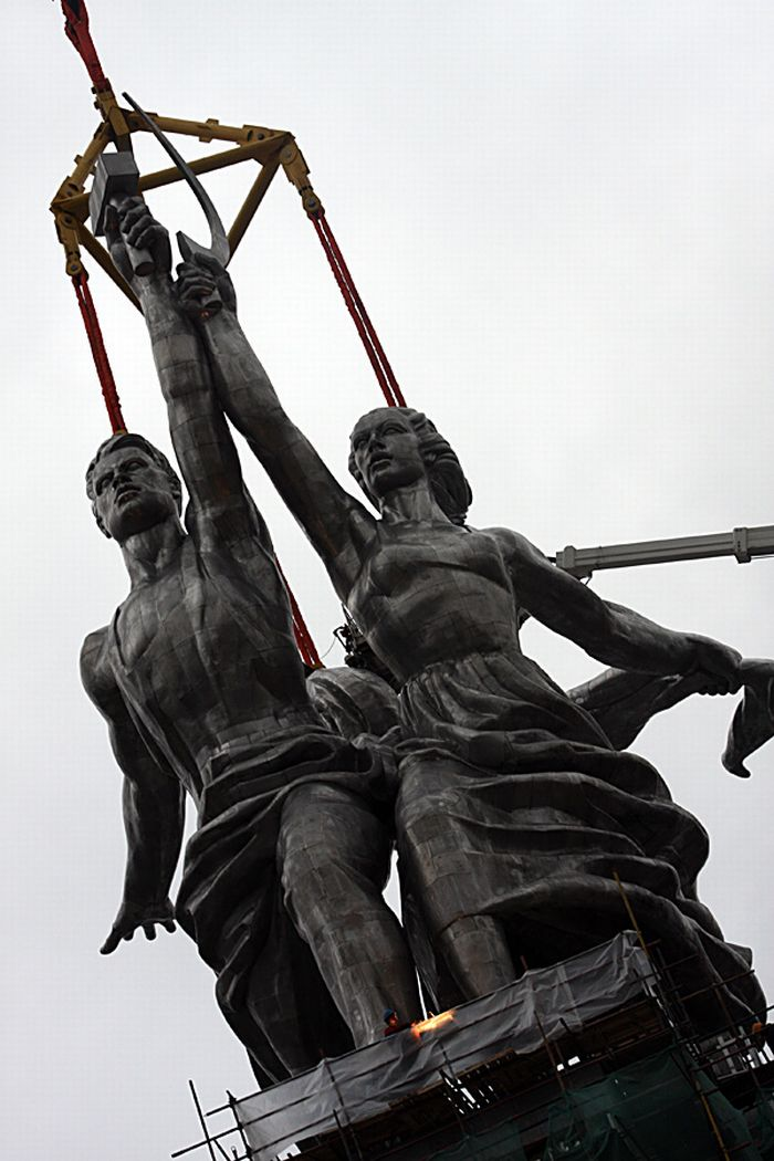 Worker and Kolkhoz Woman Reinstalled in Moscow (63 pics)