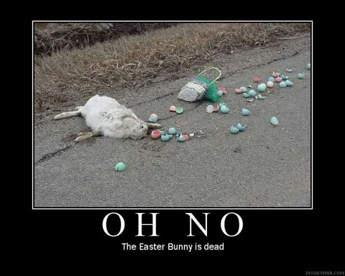 Funny Easter Bunny Dead