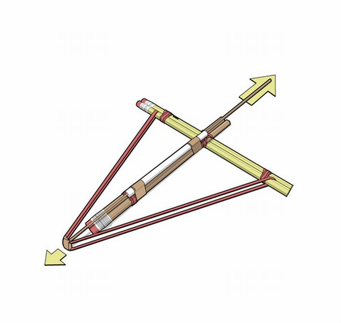 How to Build a Pencil Crossbow.