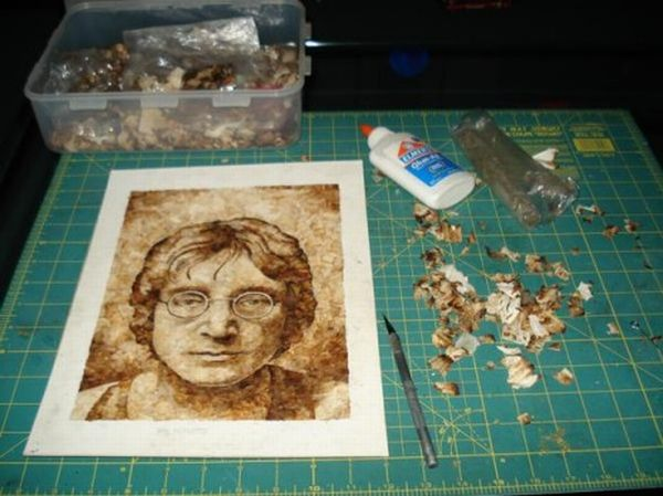 Portraits Made With Joint Ends (15 pics)