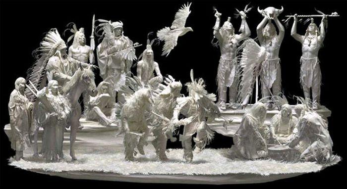 Amazing Paper Sculptures (16 pics)