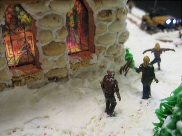 Zombie Themed Gingerbread House (15 pics)