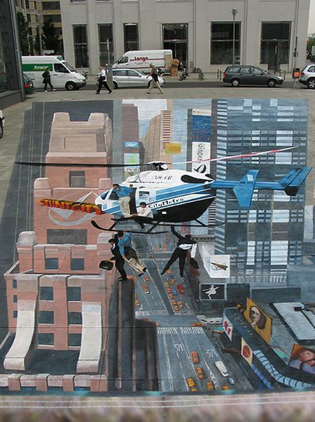 Stunning Works of 3D Street Painting & Mural Art (25 pics)