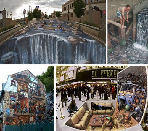 Stunning Works of 3D Street Painting & Mural Art (25 pics)
