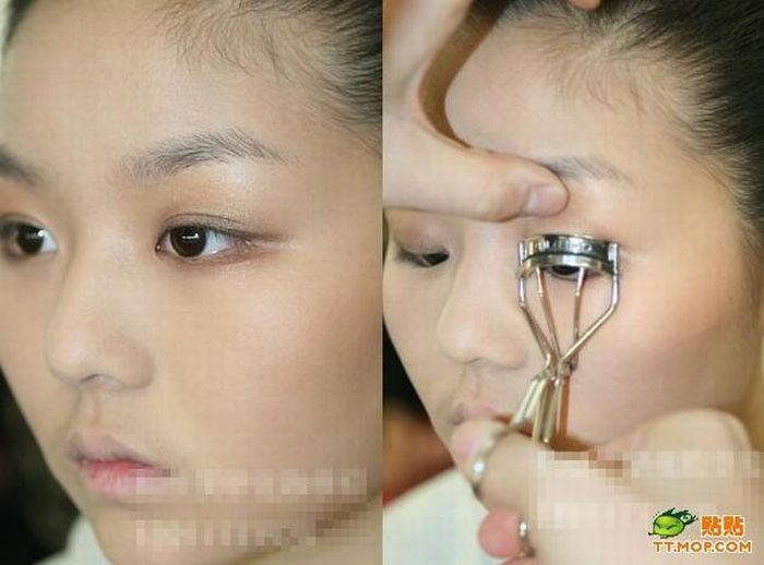 Chinese girl before and after makeup. Part 3 (16 pics)