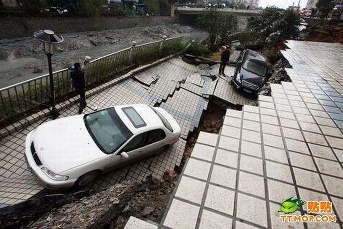 Ground Collapse (3 pics)