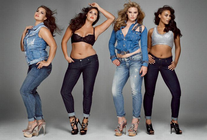Photoshoot of thick models for magazine V (9 pics)