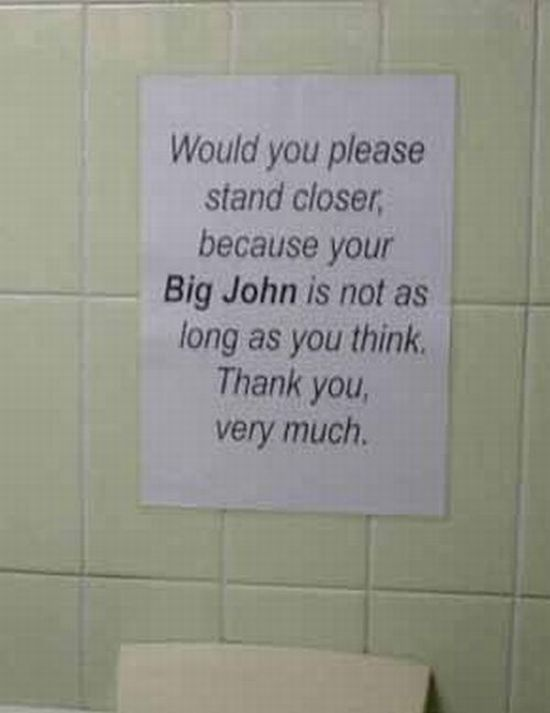 Funny Toilet Signs. Part 2 (25 pics)