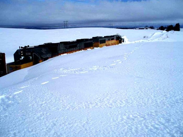 Stuck Train (3 pics)