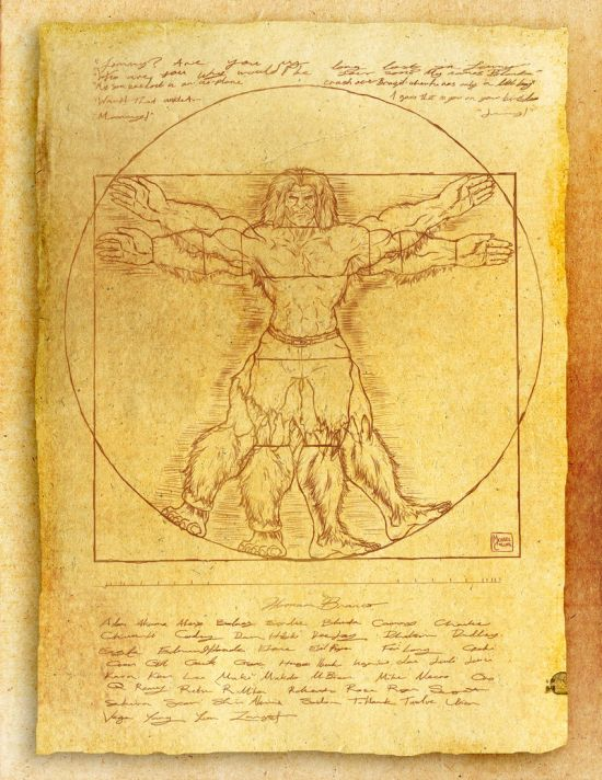 Da Vinci's Vitruvian Man (18 pics)