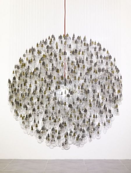 Dazzling Chandelier Made of Old Incandescent Bulbs (7 pics)