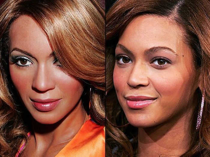 Real Celebrities and the Wax Figures (49 pics)